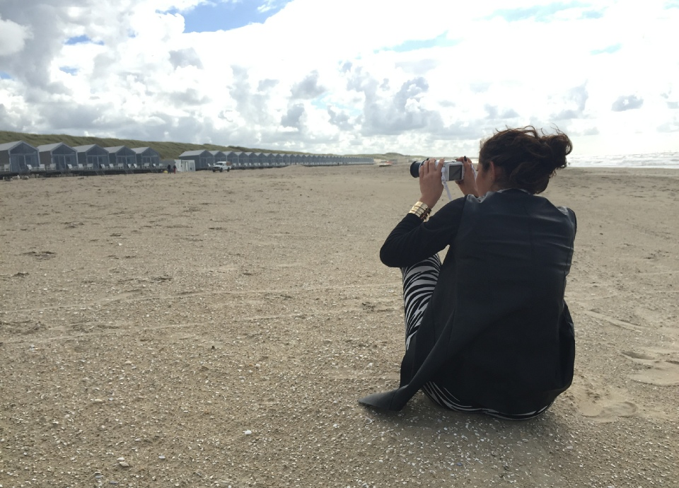 Fotoshoot strandhuisjes door Anne